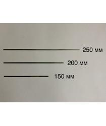 Закладные пластины для формы разборная чебурашка.  d - 0,8мм. Размеры Д/Ш/В -  200/3,5/0,9мм.