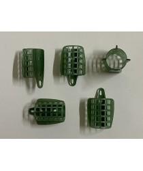 Пластиковая сетка для фидерной кормушки d-30. ( зелёная  - большая )