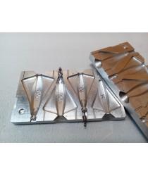Форма для литья грузил - Самолет 60, 80, 100, 120гр